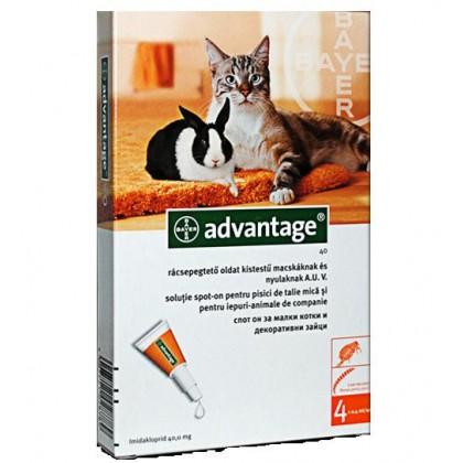ADVANTAGE®40  CENA-600din   MAČKE 0-4kg